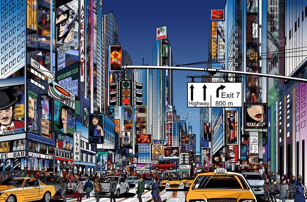 Times square wall mural for Acheter poster mural new york