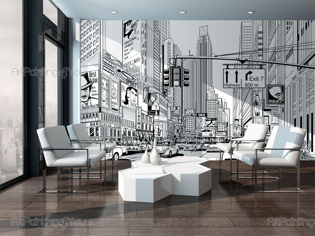 Papel pintado vinilos fotomurales ciudades p sters - Papel pintado nueva york ...