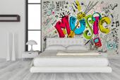 Música Cartoon - Murais de Parede Graffiti e Música Telas Decorativas e Posters