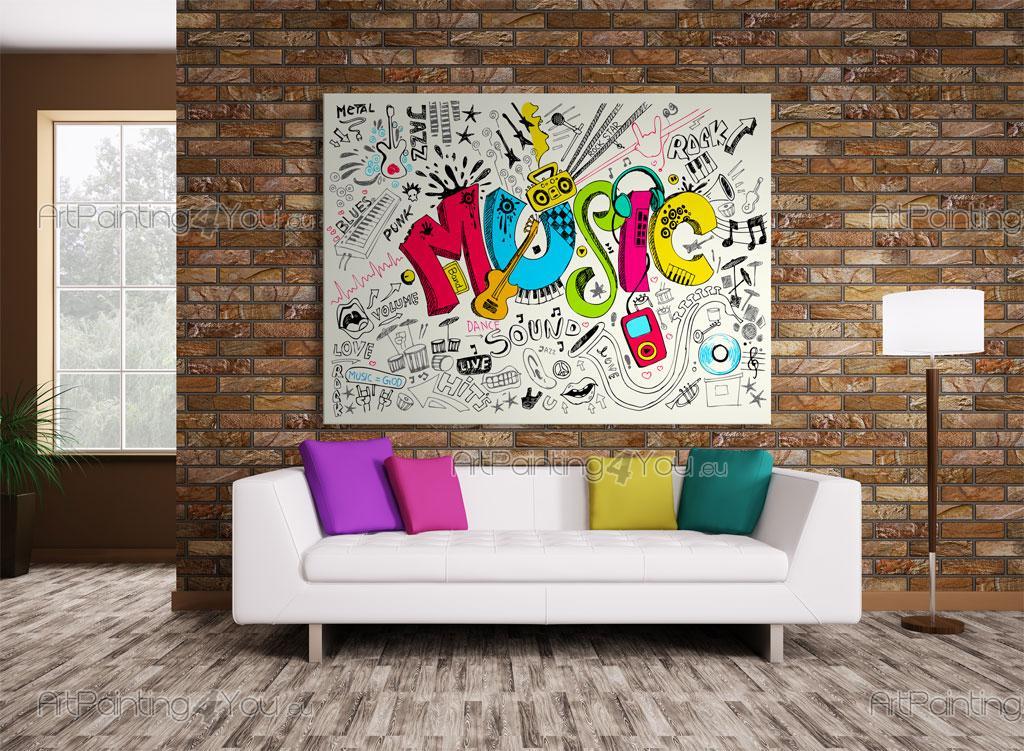 wall murals posters music cartoon. Black Bedroom Furniture Sets. Home Design Ideas