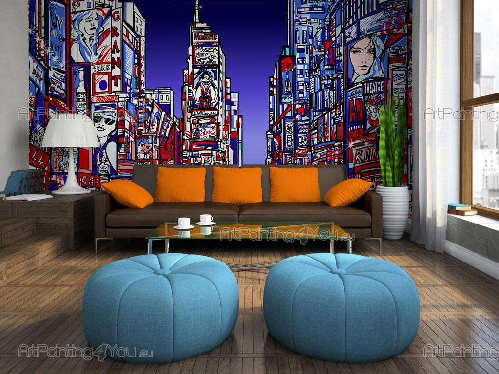Times Square New York City   Graffiti And Music Wall Murals U0026 Posters ... Part 32