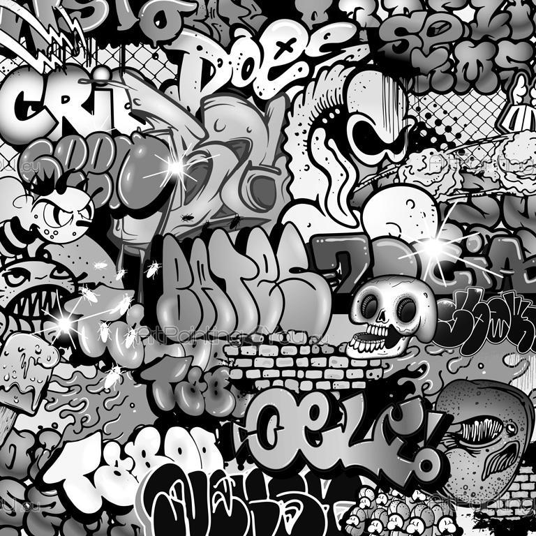 papier peint poster graffiti tag mcgr1055fr. Black Bedroom Furniture Sets. Home Design Ideas