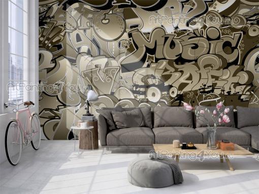 papier peint poster graffiti tag mcgr1056fr. Black Bedroom Furniture Sets. Home Design Ideas