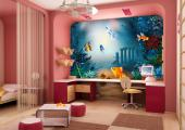 Wall Murals for Kids & Posters - At the bottom of sea you can find great treasures! Decorate the kids room with a marine wall mural that allows you to see walls made of algae, sponges...