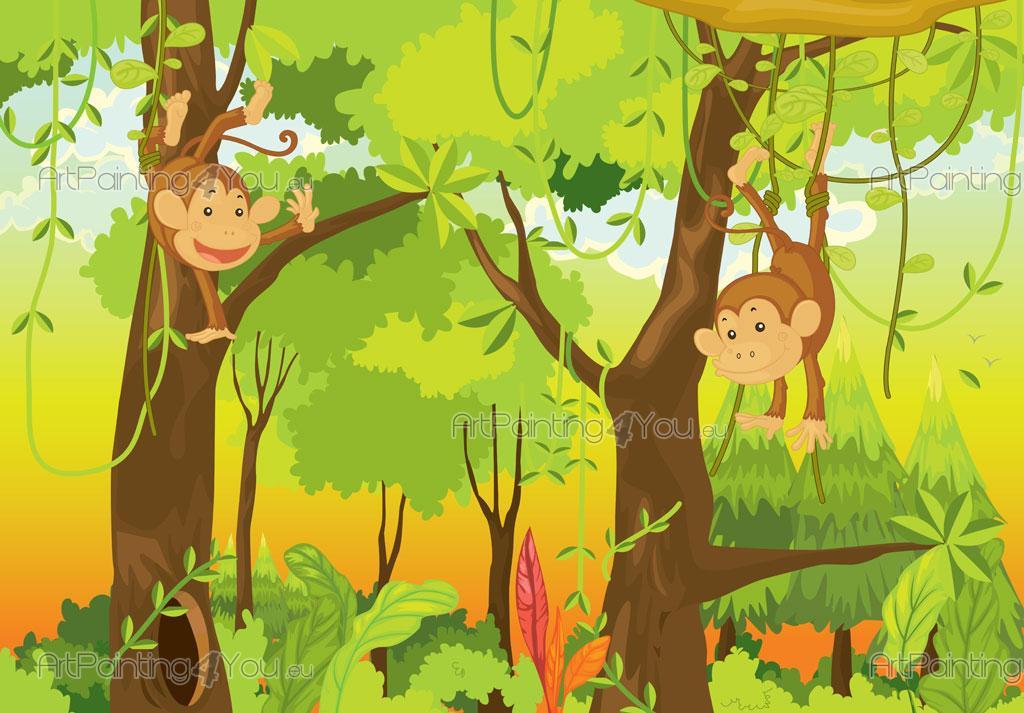 Barntapeter apor djungel mci1002sv - Babyzimmer jungle ...