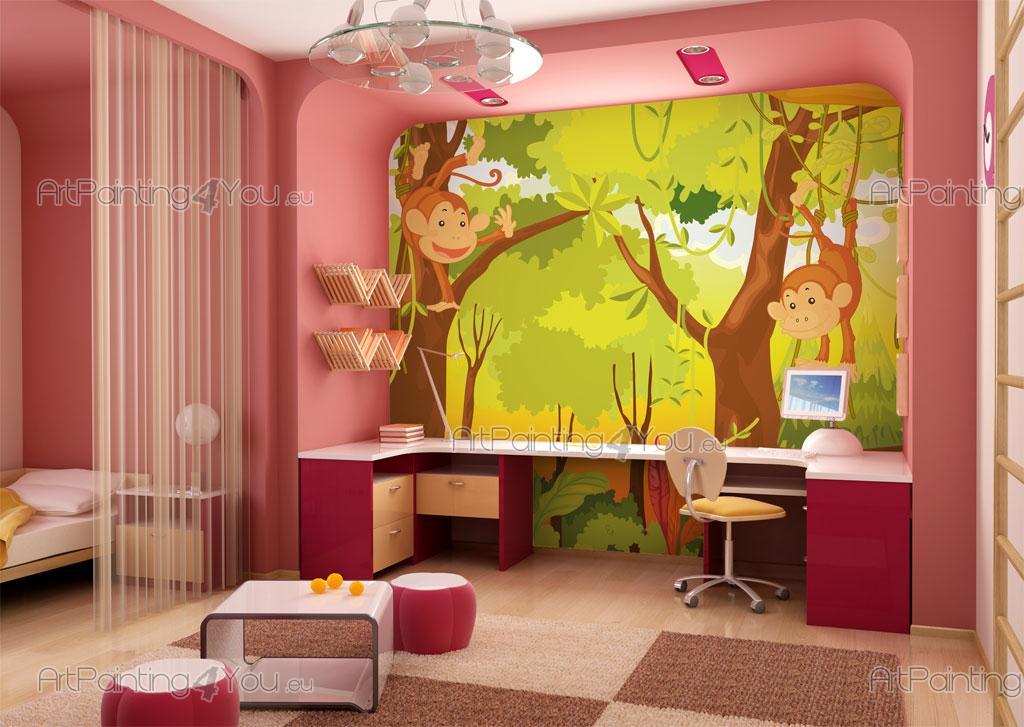 Fotomurales infantiles monos selva for Fotomurales infantiles