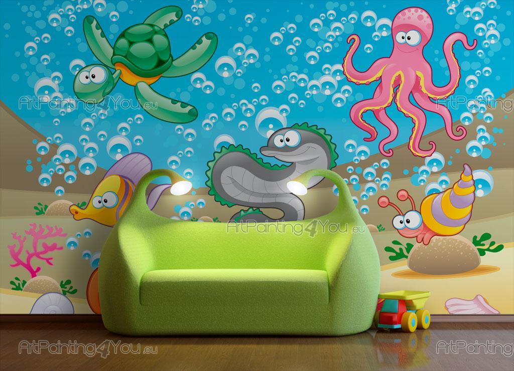 Fotomurales infantiles peces vida marina artpainting4you for Fotomurales infantiles