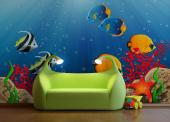 Wall Murals for Kids & Posters - Dive in a colourful ocean! Introduce your baby or child to underwater wonders with the help of a wall mural in the kids room. In the deep blue waters ...