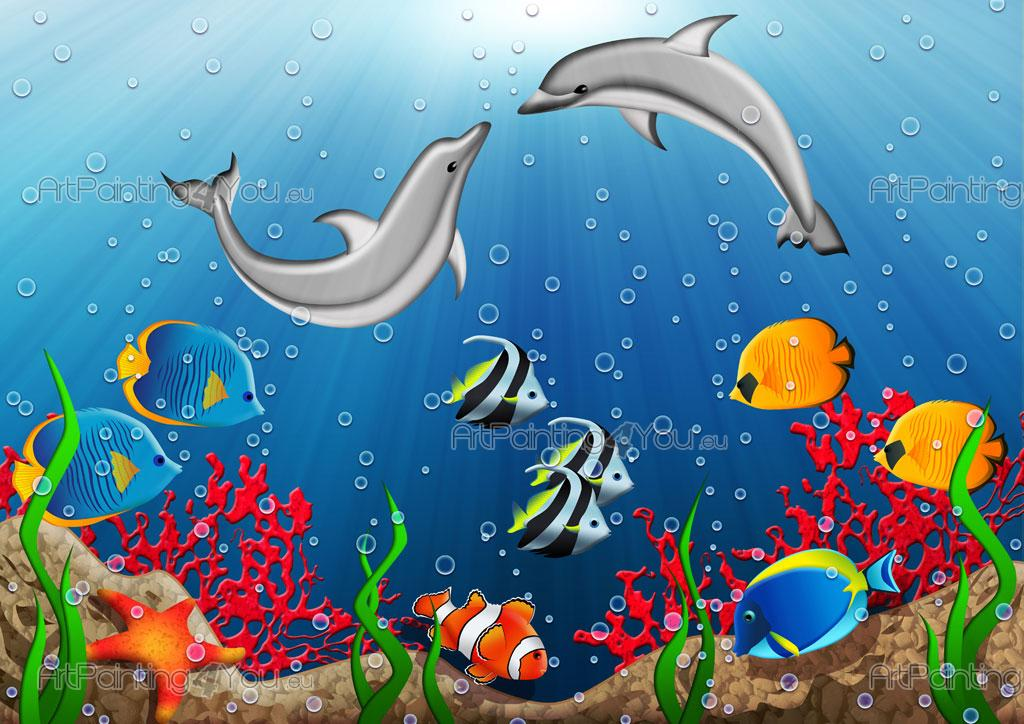 Wall murals for kids fantastic world - Peces tropicales fotos ...