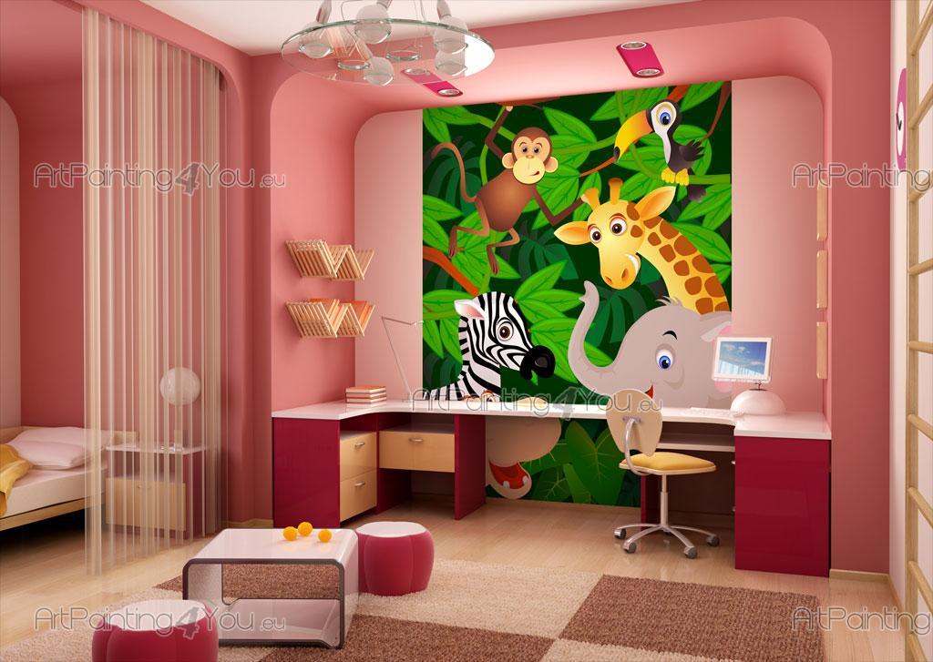 Kindertapeten fototapete kinderzimmer safari zoo tiere for Kinderzimmer zoo