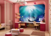 Wall Murals for Kids & Posters - As time goes by, shipwrecked boats turn into shelters for animals and subaquatic gardens. This wall mural for a kids room has its own mysteriousness. ...