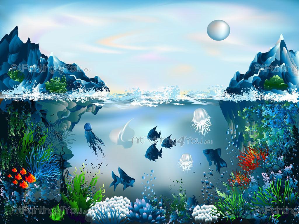Underwater Wall Mural underwater world - wall murals for kids (mci1014en