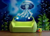 Wall Murals for Kids & Posters - Both sunshine and moonlight can pierce the surface of the seas and enlight beautiful underwater scenarios. This wall mural in shades of blue and green...