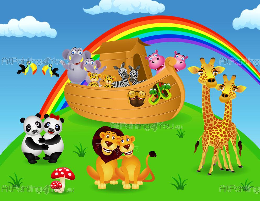 Fotomurales infantiles arca de no - Papel para paredes infantiles ...