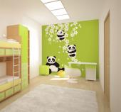 Wall Murals for Kids & Posters - Turn the room of a baby or kid even prettier with our wall murals! On a green background, a wide branch filled with cherry blossoms becomes a playgrou...