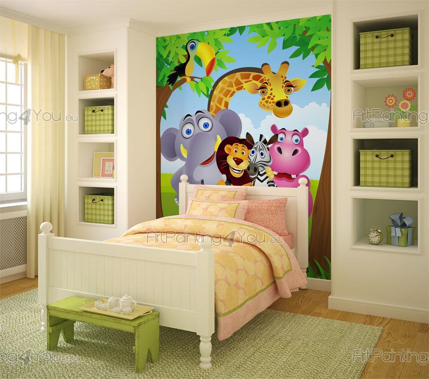 Kindertapeten & fototapete kinderzimmer safari zoo tiere (1440de)