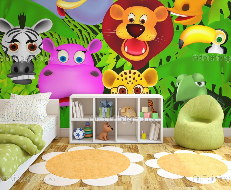 Kindertapeten dschungel tiere for Kinder wandtapeten