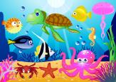 Wall Murals for Kids & Posters - How colourful can life be underwater! Surprise your babies or kids with a wall mural in their bedroom, showing them a fun place in the coral reef wher...