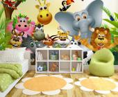 Wall Murals for Kids & Posters - Wouldn't your children love to go on a safari where they could interact with the wild animals? With a colourful wall mural or poster in their bedrooms...
