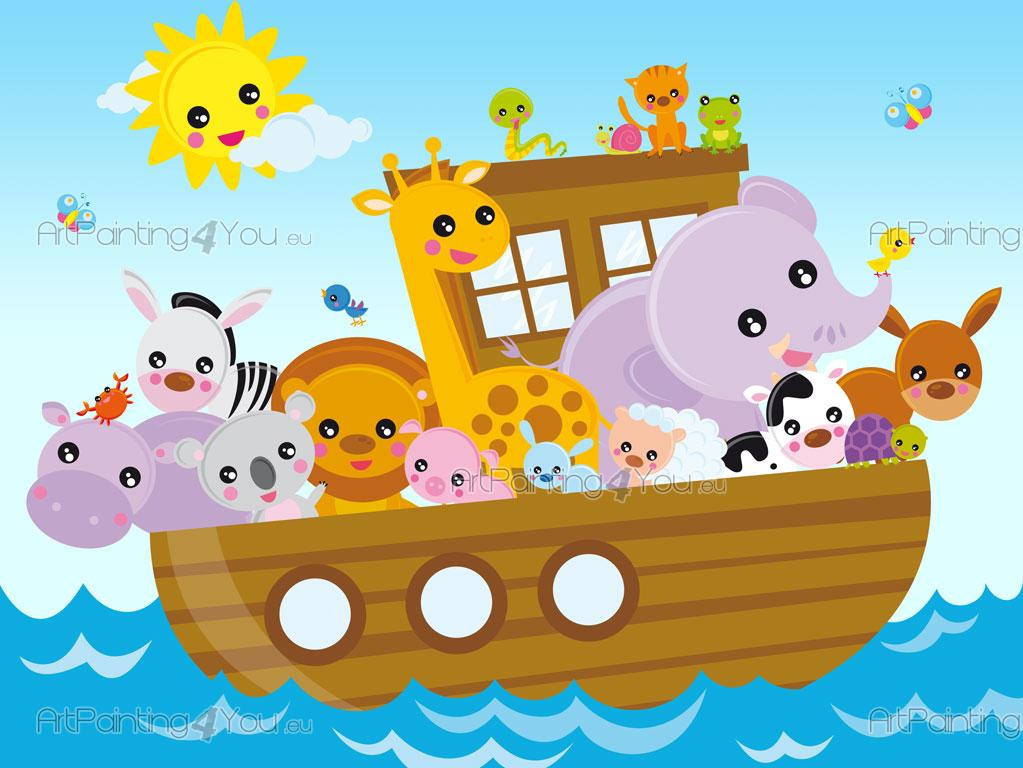 Wall Murals For Kids Noah S Ark Artpainting4you Eu
