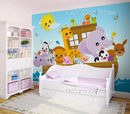 Wall Murals for Kids & Posters - Tell your child a biblical bedtime story with a large picture book page as the background. Apply on a wall of the nursery or kid's room a colourful wa...