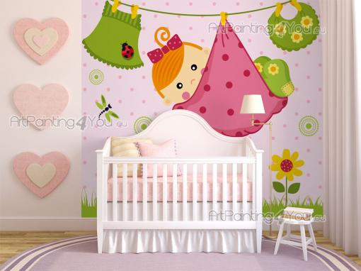 kindertapeten fototapete kinderzimmer baby m dchen 1818de. Black Bedroom Furniture Sets. Home Design Ideas