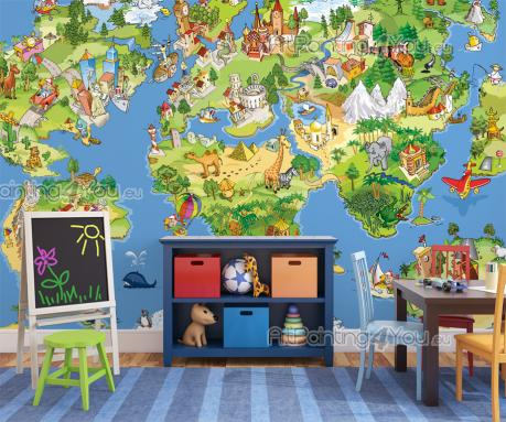 Childrens World Map - Wall Murals for Kids & Posters