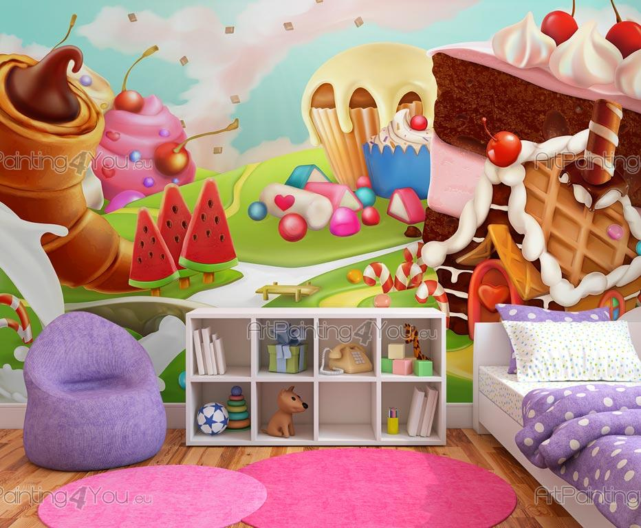 Wall Murals for Kids Candy Land ArtPainting4Youeu MCI1047en