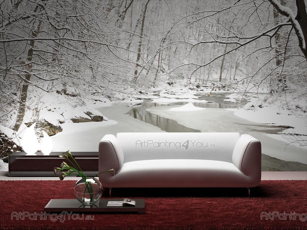 Snow landscape wall murals posters mcp1008en snow landscape black and white wall murals posters amipublicfo Gallery