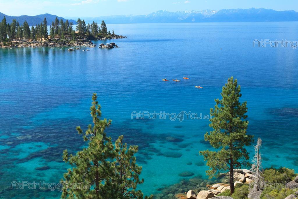Carta da parati poster lago tahoe usa artpainting4you for Cabina nel noleggio lago tahoe