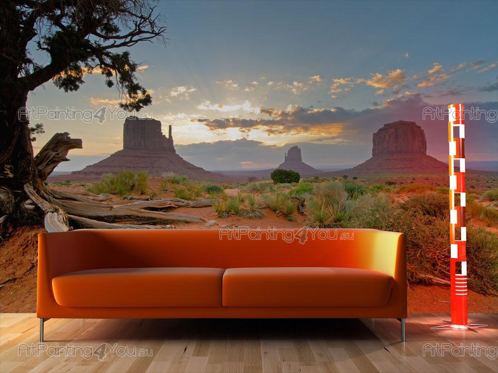 papier peint paysage poster impression sur toile monument valley utah 808fr. Black Bedroom Furniture Sets. Home Design Ideas