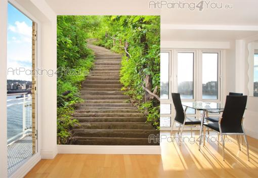 Papier peint paysage poster impression sur toile for t - Poster decoratif mural ...