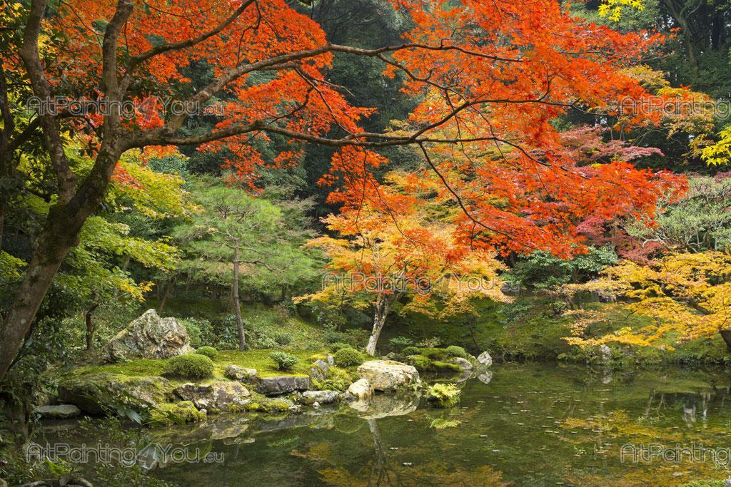 Fototapet landskap, plakater & lerretstrykk japansk hage (1548no)