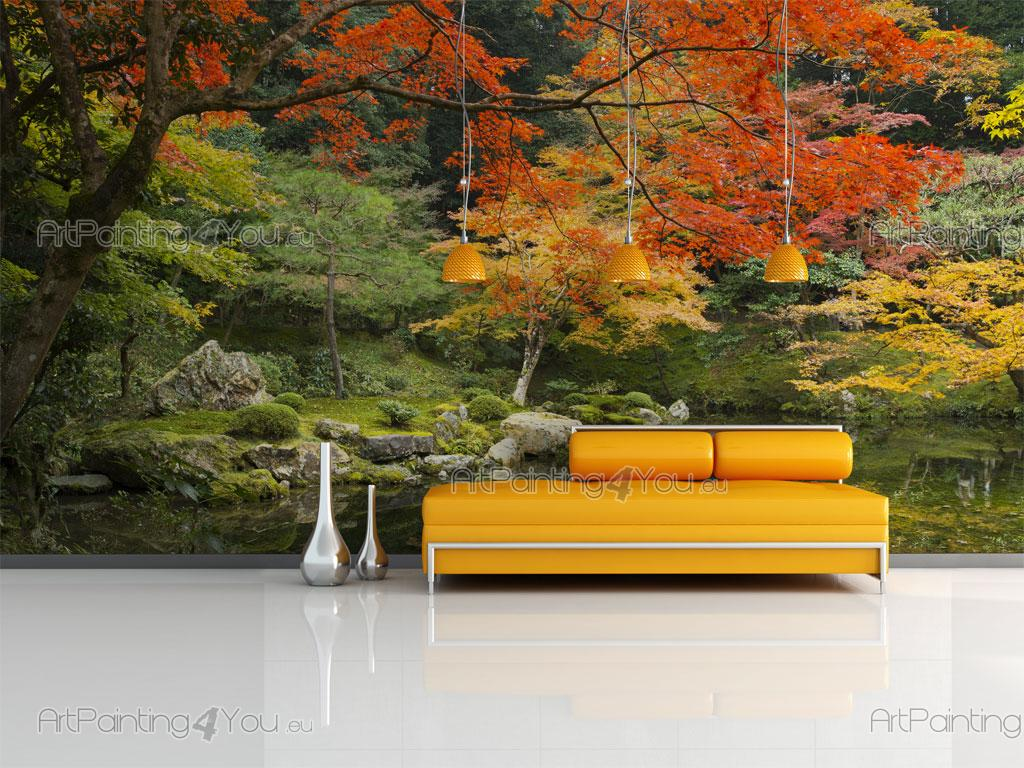 Image gallery japanese garden wallpaper murals for Asian wallpaper mural