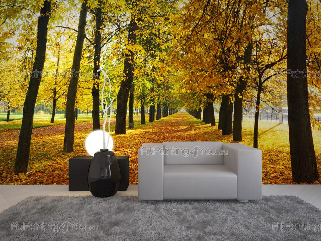 papier peint paysage poster impression sur toile jour d 39 automne 1616fr. Black Bedroom Furniture Sets. Home Design Ideas