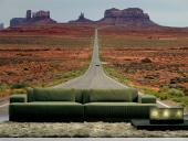 Monument Valley Route 66 - Wall Murals Nature Landscape & Posters