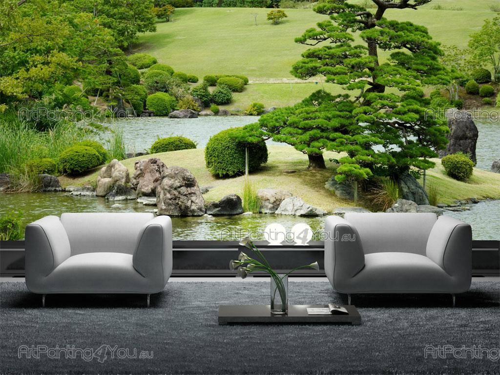 papier peint paysage poster impression sur toile jardin japonais 1814fr. Black Bedroom Furniture Sets. Home Design Ideas