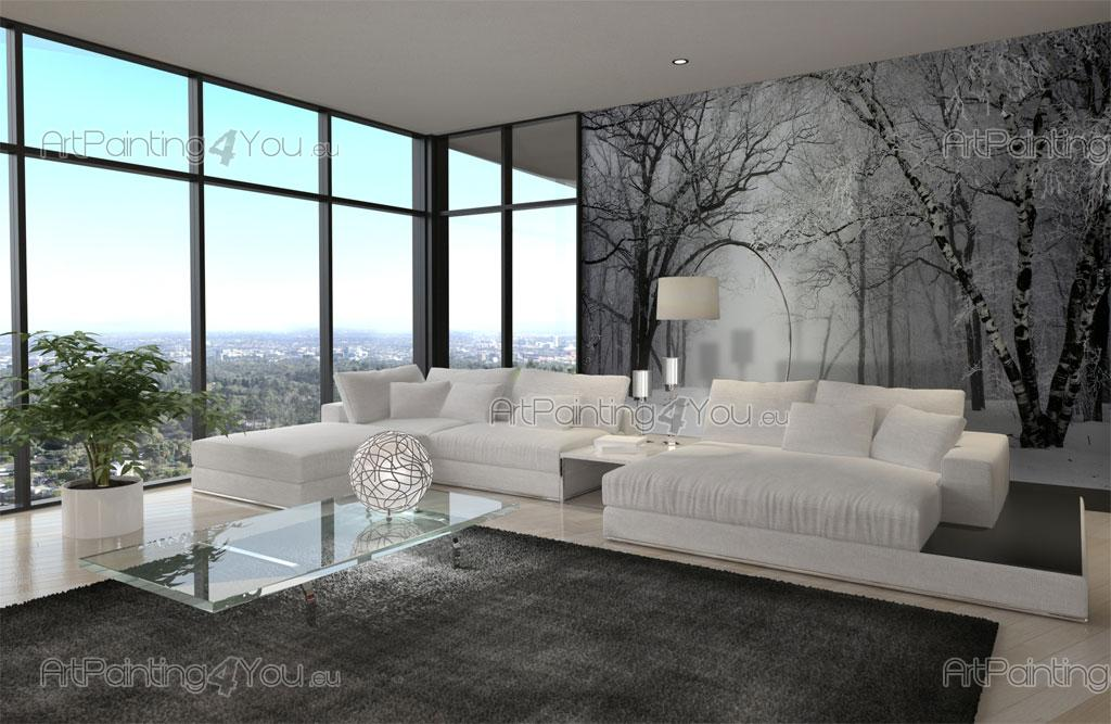 papier peint poster neige. Black Bedroom Furniture Sets. Home Design Ideas