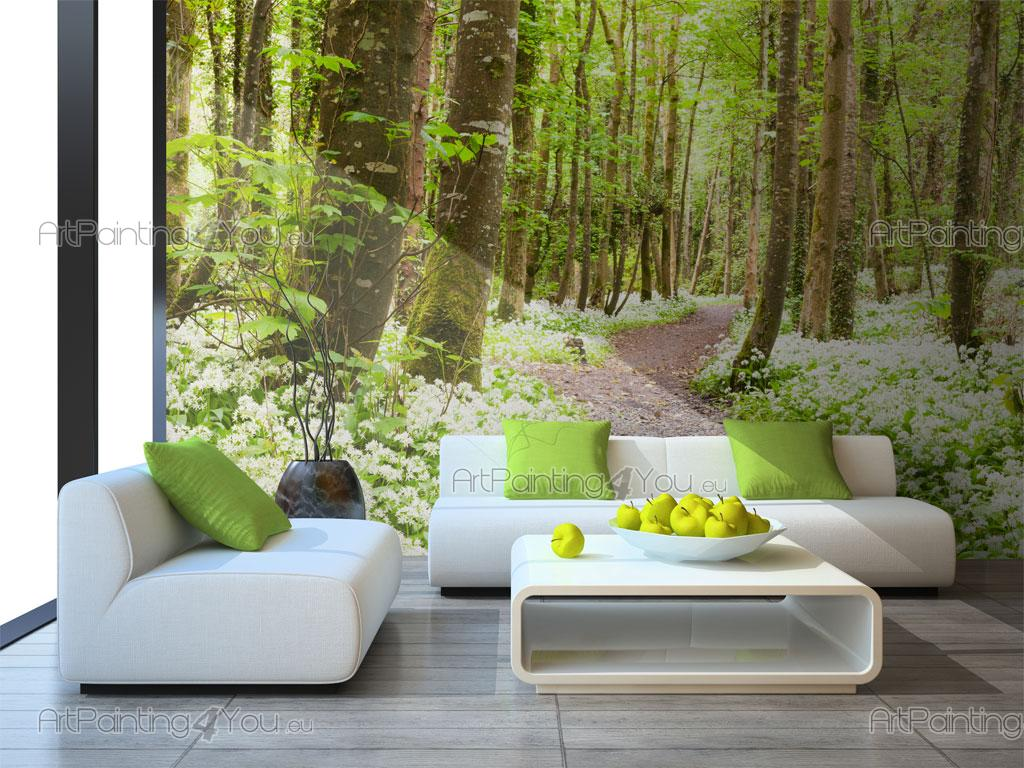 Papel pintado vinilos fotomurales paisajes p sters for Murales en 3d para salas