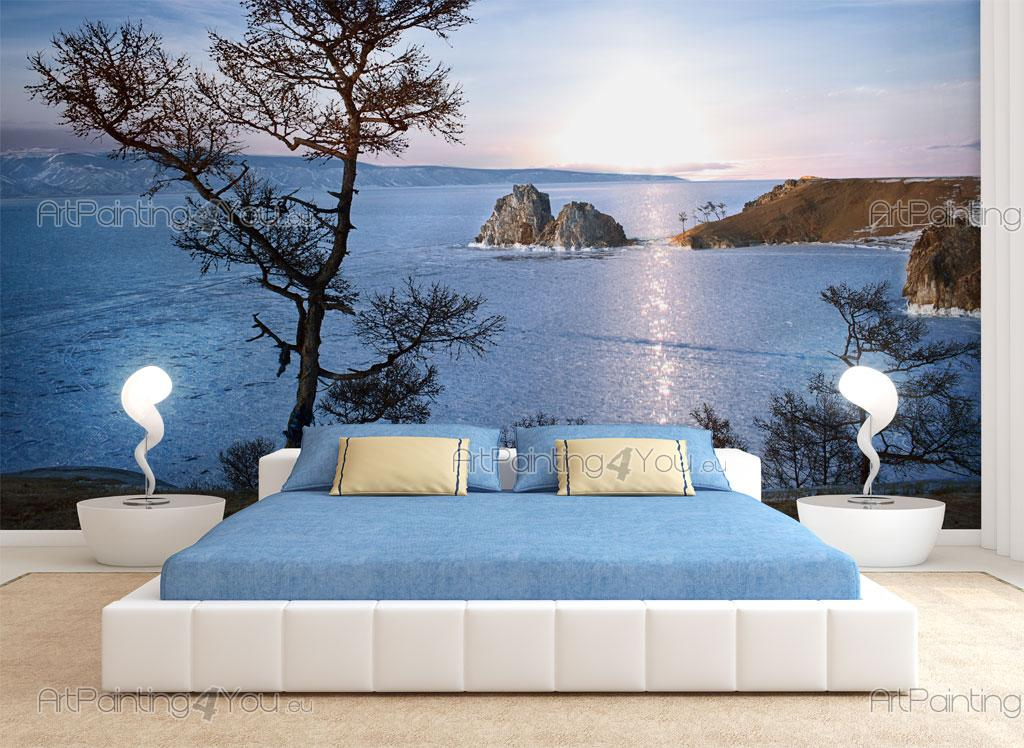 papier peint paysage poster impression sur toile lac 2052fr. Black Bedroom Furniture Sets. Home Design Ideas