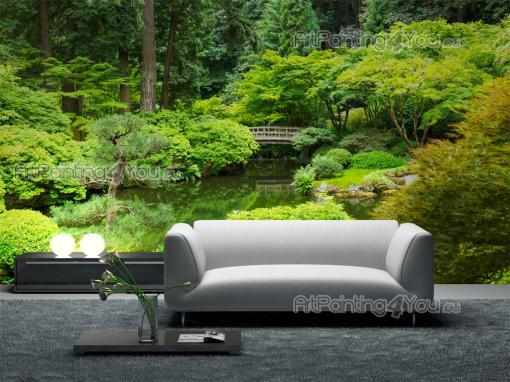 wall murals posters japanese garden mcp1102en. Black Bedroom Furniture Sets. Home Design Ideas