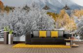 Snow Landscape - Black and White Wall Murals & Posters