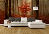 Red Leaves - Wall Murals Nature Landscape & Posters