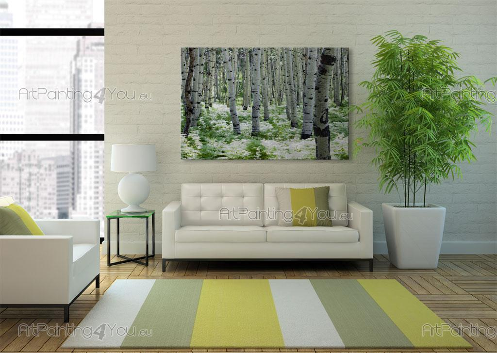 Wall murals landscape canvas prints posters aspen trees for Aspen wall mural