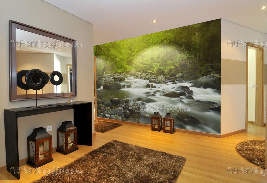papier peint poster montagne rivi re mcp1140fr. Black Bedroom Furniture Sets. Home Design Ideas