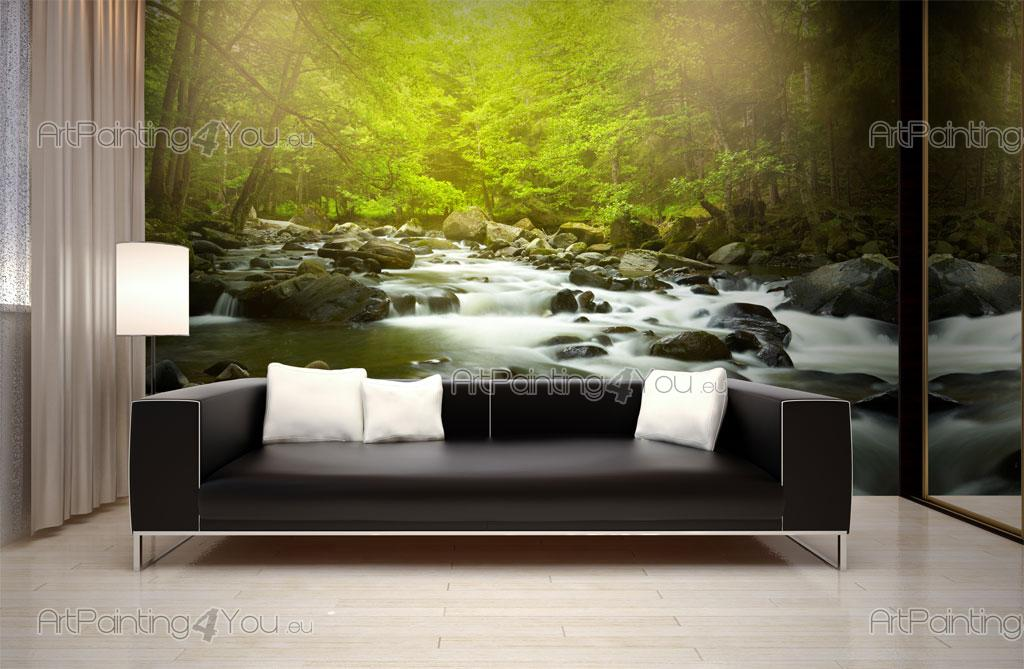 papier peint poster montagne rivi re artpainting4you. Black Bedroom Furniture Sets. Home Design Ideas