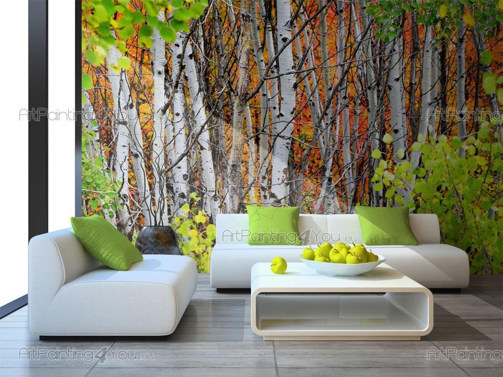 Wall murals posters aspen trees for Aspen tree wall mural