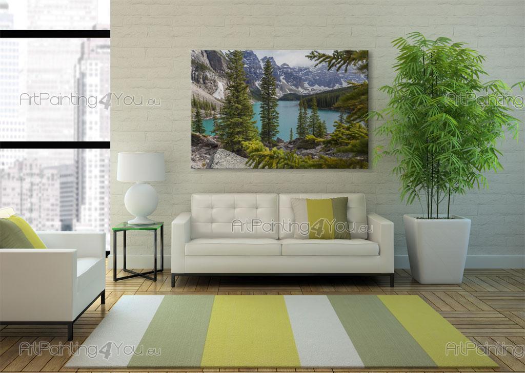 papier peint poster lac moraine canada artpainting4you. Black Bedroom Furniture Sets. Home Design Ideas