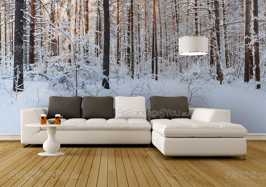 papier peint paysage poster impression sur toile neige 2258fr. Black Bedroom Furniture Sets. Home Design Ideas