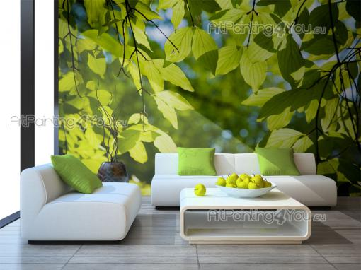 Green Leaves - Wall Murals & Posters
